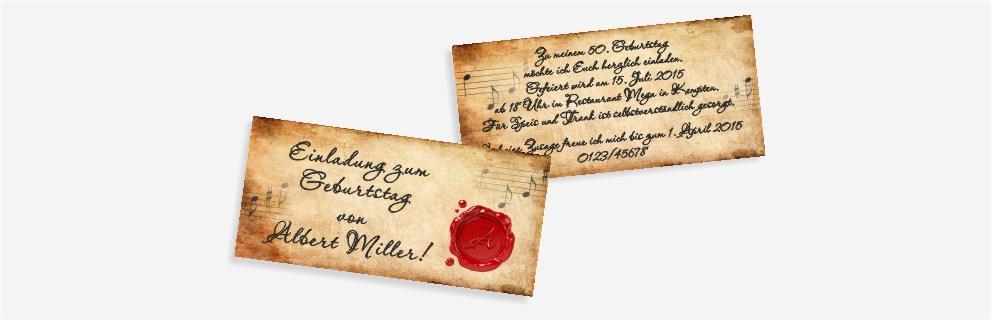 geburtstagseinladungen - einladungskarten zum geburtstag